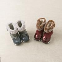 davebella戴维贝拉童装冬新款男女童靴子宝宝加绒保暖棉靴DB10946