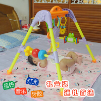 新生儿婴儿宝宝床上摇铃0-3-6个月床铃音乐健身架早教玩具 小蜜蜂音乐健身架(有音乐)