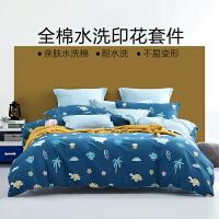 【大牌返场】水星出品 百丽丝家纺 全棉卡通印花三/四件套床单被套 超能小可爱
