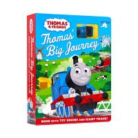 小火车托马斯轨道车书玩具书纸板书 英文原版 Thomas Friends Thomas' Big Journey 儿童英