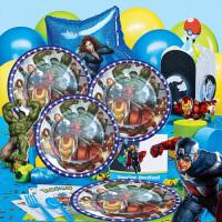 儿童生日聚会钢铁侠绿巨人复仇者联盟主题派对装饰布置用品道具