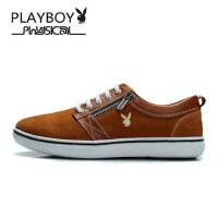 花花公子男鞋 新款潮鞋男士休闲鞋运动板鞋男鞋子男真皮鞋CX37529