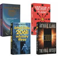 【全店满300减80】阿瑟克拉克 太空漫游四部曲 英文原版 2001 2061 3001 Space Odyssey 四册 科幻悬疑文学小说 Arthur C Clarke
