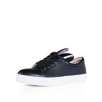 爱旅儿哈森旗下定制款圆头平跟板鞋时尚运动鞋小白鞋