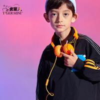 【任选专区3件149元】小虎宝儿男童卫衣2021春装款儿童中大童套头上衣运动潮