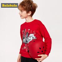 巴拉巴拉男童卫衣圆领2019新款春季中大童儿童上衣童装韩版套头衫