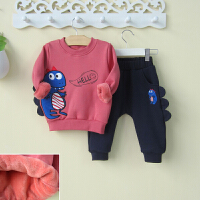 0一1-2-3岁婴幼儿童装男宝宝春秋装卫衣两件套装恐龙潮款外出衣服