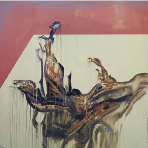 刘佳腾 当代青年油画家 《三生树》之一布面丙烯 100x100cm
