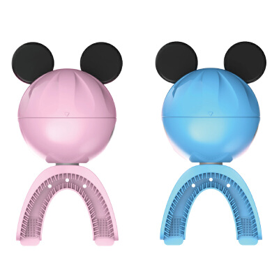 爱家乐儿童电动网红牙刷LP6蓝色 智能自动U型口含式小孩宝宝刷牙充电式防水