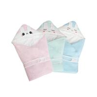 婴儿抱被针织春秋冬纯全棉加厚抱毯睡袋新生儿时代宝宝包被ZQ102