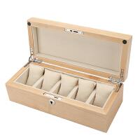 红樱桃木实木制手表盒子手串链展示收藏收纳盒箱五只装