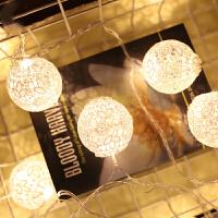 LED装饰灯彩灯蕾丝球闪灯串灯满天星节日圣诞室内小彩灯电池灯