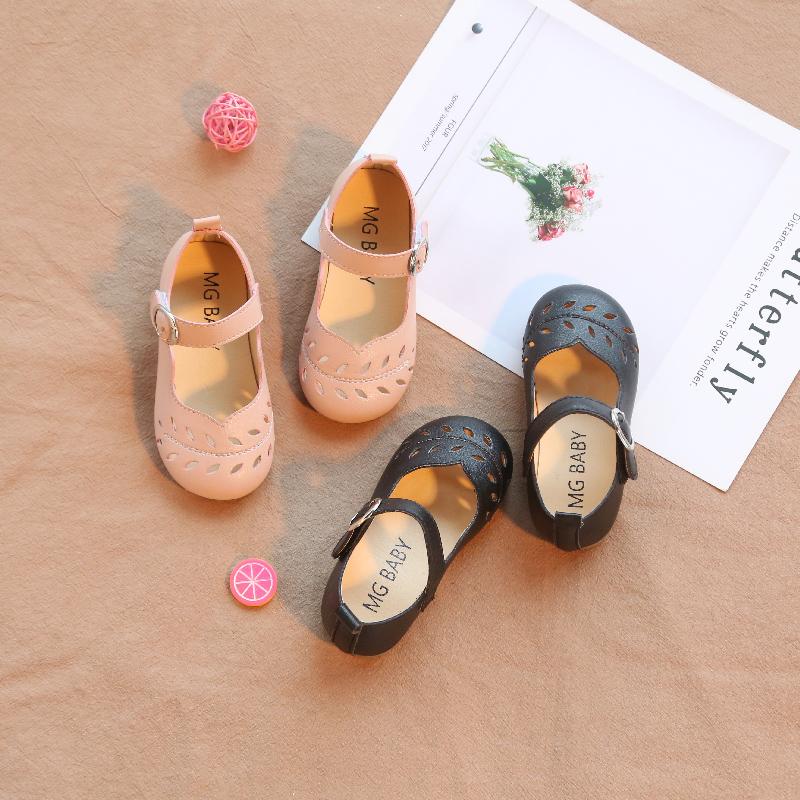 女童皮鞋小童软底凉鞋婴幼学步鞋2019儿童鞋舒适软底宝宝鞋子