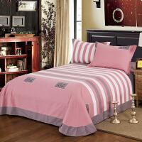 棉磨毛床单单件秋冬加厚床上用品布女被单子单双人加大床单k 粉+灰+白 印象风范