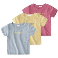 宝宝字母短袖T恤 夏装童装儿童圆领上衣