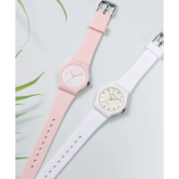 手表女韩版简约考试手表防水学生石英儿童手表女孩果冻电子表