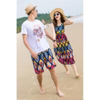 大码沙滩情侣装夏装连衣裙海边套装2019新款度假蜜月泰国三亚长裙 图片色