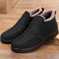 棉鞋男冬季中老年加�q保暖男棉靴防水防滑雪地靴老北京布鞋爸爸鞋