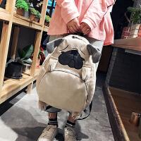 书包女学生韩版 校园原宿ulzzang潮背包灯芯绒萌系卡通可爱双肩包