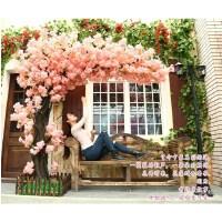 仿真桃花树仿真樱花树许愿树桃花装饰商城酒店橱窗大型婚庆造景树 高4米宽3米 联系客服