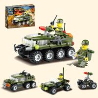 兼容积木拼装积木飞机坦克军事城市小颗粒拼插儿童启蒙益智男孩子玩具5-8-12岁