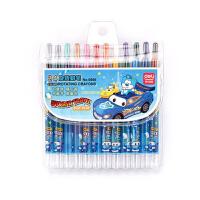 得力(deli) 6966 油画棒24色幼儿童蜡笔旋转蜡笔炫彩棒无毒可水洗画笔 外包装颜色随机 当当自营