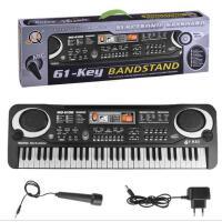 61键麦克风话筒电子琴 儿童乐器玩具钢琴 多功能音乐教学琴电钢琴