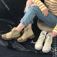 马丁靴女英伦风学生韩版百搭2018秋季新款chic短靴机车靴子