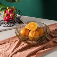 北欧ins创意果盘欧式简约铁艺果篓客厅餐厅茶几餐桌装饰摆件家用