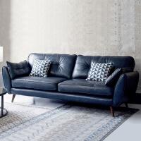 皮艺沙发小户型双人沙发 北欧美式真皮沙发现代欧式客厅小户型单人双人三人座位皮艺沙发 。