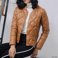 轻薄羽绒服女修身薄款2018冬款新款超轻薄韩版外套轻便短款羽绒服