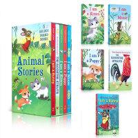 【顺丰速运】英文进口原版绘本 【5册盒装】I am a Bunny Animal stories 我是一只兔子 Mouse/Puppy/Kitten 纸板书 儿童启蒙图画故事书 0-3-6岁