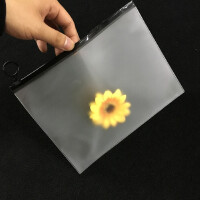PVC拉链袋定制 塑料磨砂文件袋 塑料薄膜胶袋 EVA圆环透明资料袋 透明