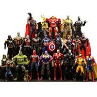 复仇者联盟3玩具模型灭霸蜘蛛侠钢铁侠蚁人美国队长2蝙蝠侠公仔 复仇3灭霸24只套装