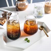 ins风北欧创意玻璃水杯家用果汁杯牛奶杯茶杯饮料杯子B-173