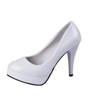 一件2019春新款高跟鞋 欧美防水台高跟鞋性感细跟浅口女单鞋