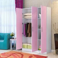 木质衣柜三门衣柜简易组合柜版式家具衣柜衣厨收纳柜