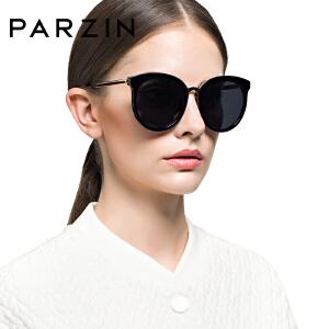 帕森偏光太阳镜 女士复古大框板材眼镜炫彩膜潮墨镜 9659