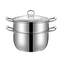 加厚不锈钢奶锅小蒸锅迷你汤锅牛奶煮面婴儿辅食锅电磁炉16-26cm