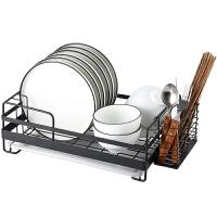 碗架沥水架304不锈钢碗碟架晾碗盘架单层厨房收纳架置物架沥水篮
