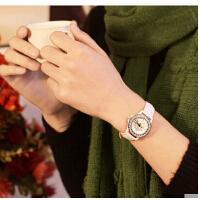 商务女士韩版石英表女表复古表   手表时尚真皮表水钻表