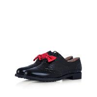 爱旅儿哈森旗下英伦时尚休闲平跟学生布洛克单鞋女EL65308