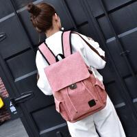书包 男士女士休闲旅行背包2020新款韩版时尚潮流帆布背包学生大容量休闲双肩背包