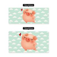 鼠标垫 超大可爱女生粉色独角兽猫爪键盘垫 柯基猫咪办公防滑书桌垫
