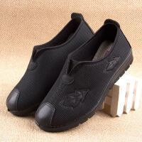 北京老布鞋女春秋中老年健步鞋老人鞋女士老年布鞋春款奶奶平底