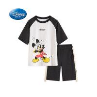 迪士尼男童夏装套装2020童装新品小孩子纯棉T恤短裤中大童两件套