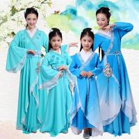 儿童摄影表演服饰年会古筝演出服古装舞蹈服装汉服