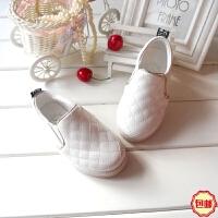 16春中小童鞋板鞋男童休闲鞋女童单鞋一脚蹬宝宝皮鞋 儿童运动鞋
