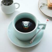 咖啡杯套装软妹杯子可爱马克杯奶喵喵家用陶瓷小情侣杯子