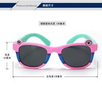 儿童偏光太阳镜 眼睛宝宝墨镜 男女童柔软硅胶眼镜